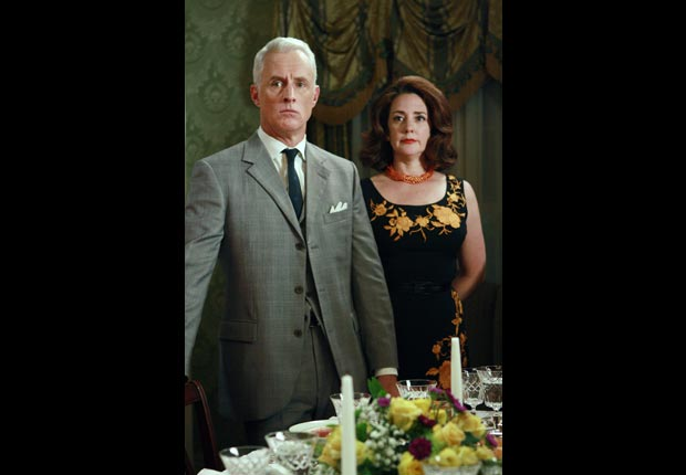 John Slattery and Talia Balsam on MAD MEN