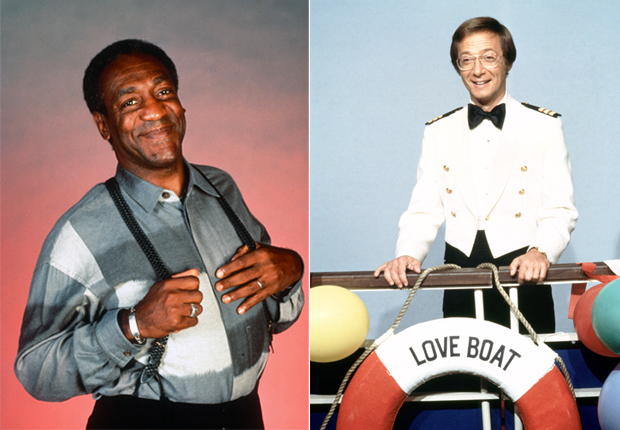 Cliff Huxtable (Bill Cosby - izquierda) y Adam 'Doc' Bricker (Bernie Kopel - derechal) - Nuestros doctores favoritos de TV.