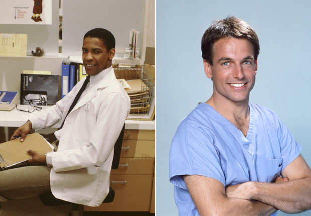 Denzel Washington and Marc Harmon in St. Elsewhere, TV Doctors