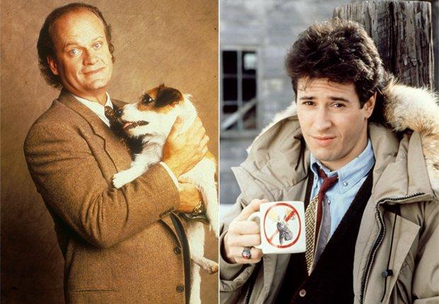 Frasier Crane (Kelsey Grammer - izquierda) y Joel Fleischman (Rob Morrow- derecha) - Doctores favoritos de TV.