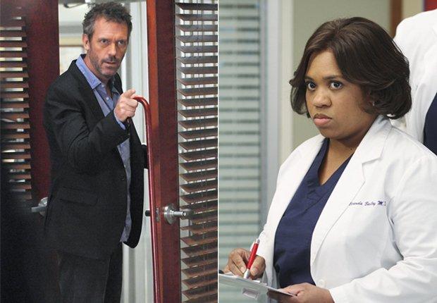 Gregory House (Hugh Laurie - izquierda) y Miranda Bailey (Chandra Wilson - derecha) - Doctores favoritos de TV.
