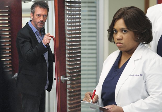 Gregory House (Hugh Laurie - izquierda) y Miranda Bailey (Chandra Wilson - derecha) - Doctores favoritos de TV.