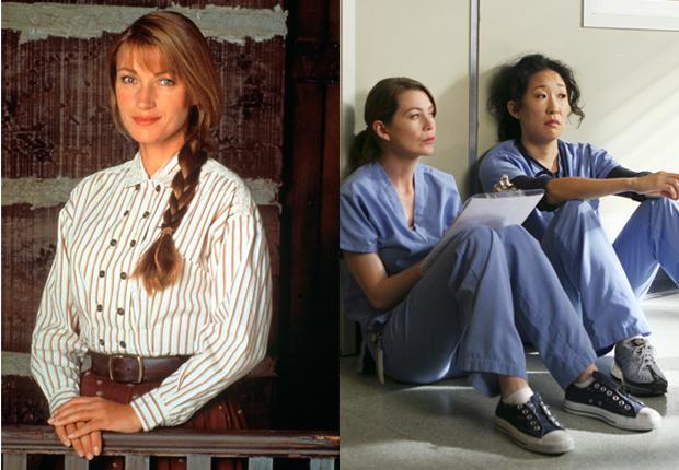 Dr. Quinn, Medicine Woman (Jane Seymour)  y las doctoras Meredith Grey (Ellen Pompeo) y Cristina Yang (Sandra Oh) de Grey's Anatomy.  Doctores de la TV.