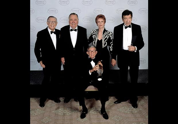 THE COMEDY HALL OF FAME, Milton Berle, Jonathan Winters, George Burns, Carol Burnett, Walter Matthau