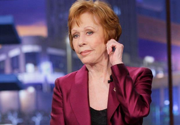 Carol Burnett tugs ear during appearance on Tonight Show with Jay Leno, 2012