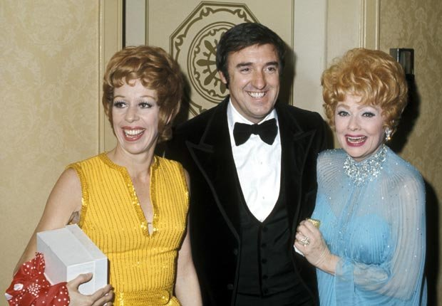 Actors and friends Carol Burnett, Jim Nabors, and Lucille Ball attend an awards ceremony