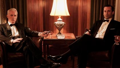 John Slattery and Jon Hamm in Mad Men