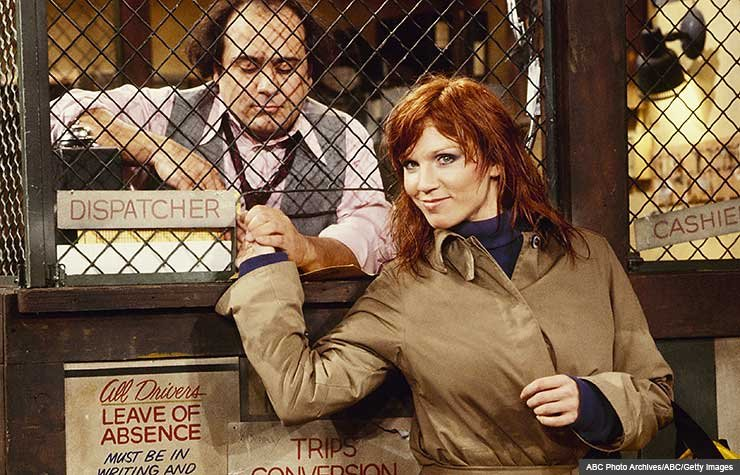 Actors Danny DeVito and Marilu Henner on set of Taxi, Marilu Henner's Unforgettable Memory