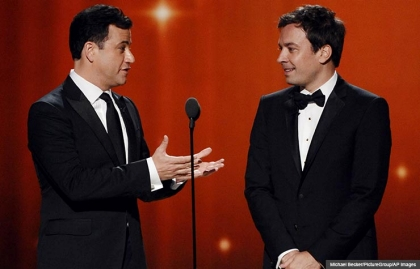Jimmy Kimmel and Jimmy Fallon