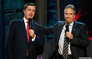 Stephen Colbert and Jon Stewart