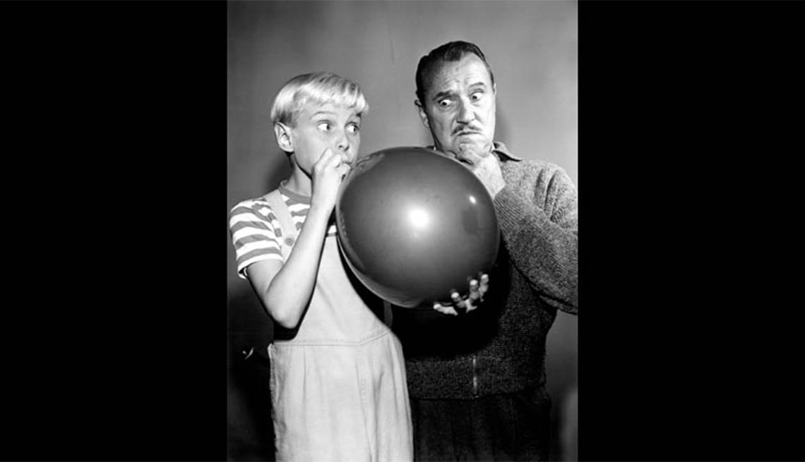 Actors Jay North and Gale Gordon in Dennis the Menace, Child stars