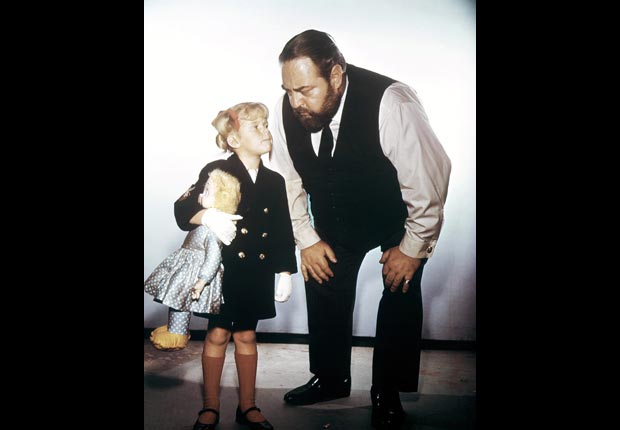 Child actress Anissa Jones with Sebastian Cabot in Family Affair, Child star (Everett Collection)