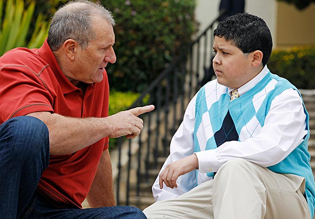Ed O'Neill and Rico Rodriguez in Modern Family.