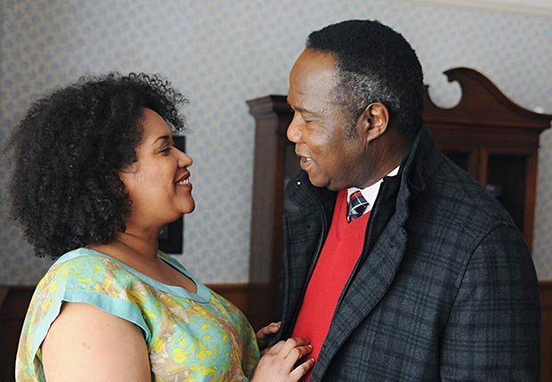 Kim Roberts and Isaiah Whitlock, Jr. in Lucky 7.