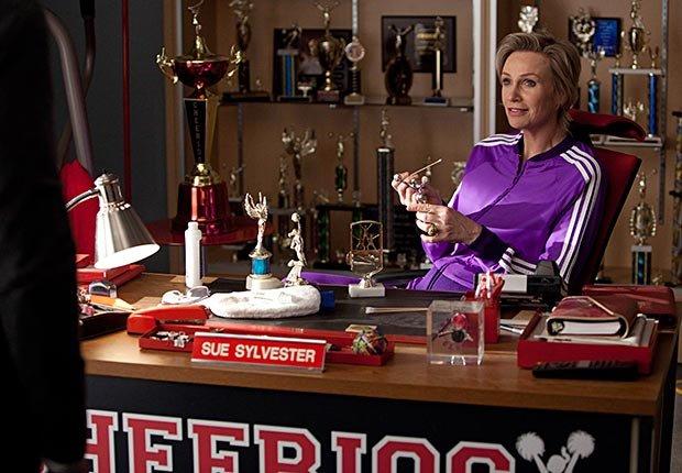 Jane Lynch in Glee.