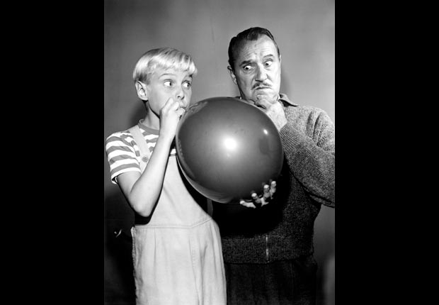 Actors Jay North and Gale Gordon in Dennis the Menace, Child stars (Everett Collection)