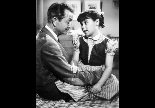 Robert Young and Lauren Chapin in Father Knows Best, Child stars (Everett Collection)