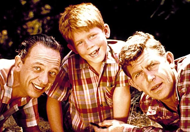 Child actor Ron Howard with Don Knotts and Andy Griffith in the Andy Griffith Show, Child stars (Everett Collection)