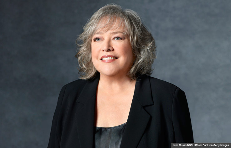 """HARRY'S LAW -- Season 2 -- Pictured: Kathy Bates as Harriet """"Harry"""" Korn (John Russo/NBCU Photo Bank via Getty Images)"""
