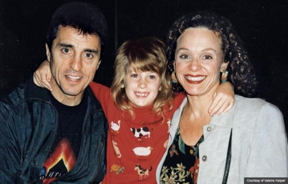 Valerie Harper, Tony Cacciotti with daughter Cristina, age 6 (Courtesy of Valerie Harper)