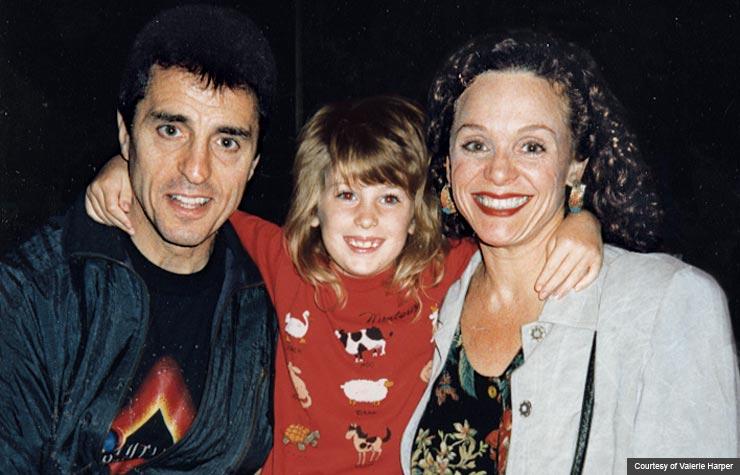 Valerie Harper, Tony Cacciotti with daughter Cristina, age 6 (Courtesy of Valerie Harper)