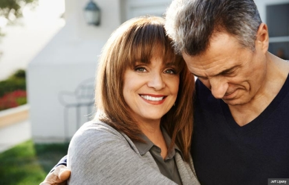 Valerie Harper and her husband (Jeff Lipsky)