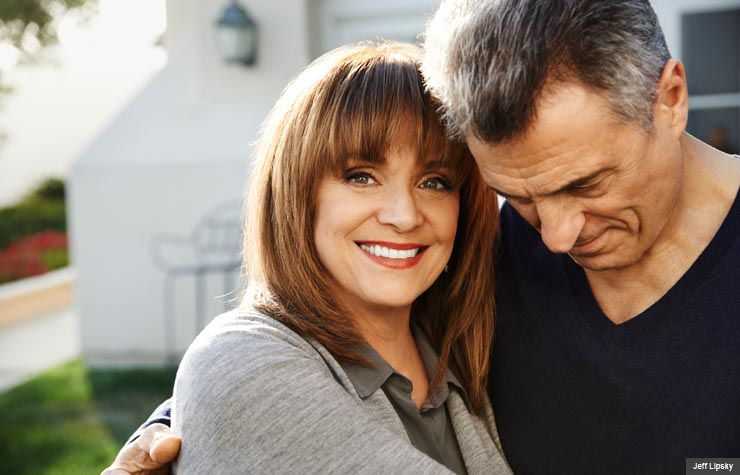 Valerie Harper and her husband (Jeff Lipsky)