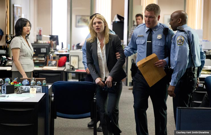 Claire Danes in Homeland. (Courtesy Kent Smith/Showtime)