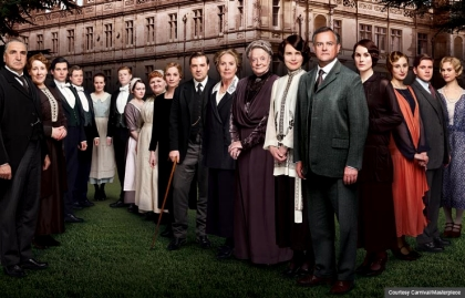 El elenco de Downton Abbey