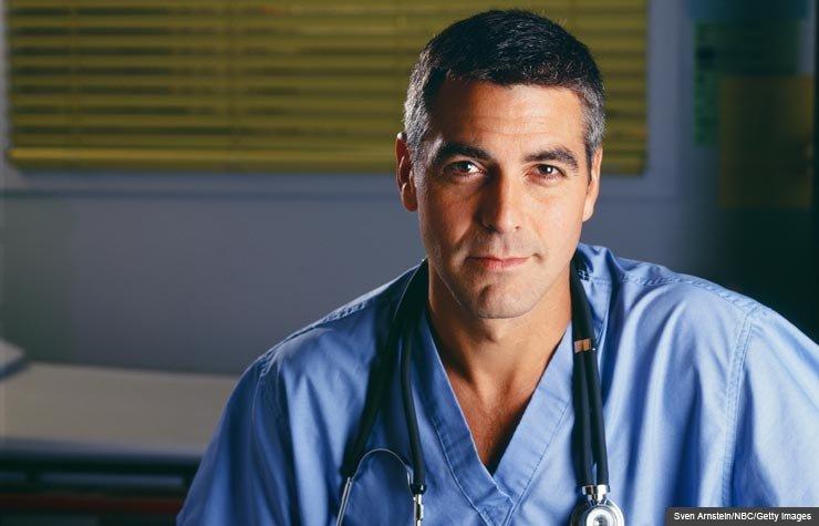 George Clooney in ER. (Sven Arnstein/NBC/Getty Images)