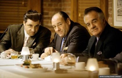 Steven Van Zandt, James Gandolfini and Tony Sirico en Los Sopranos