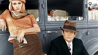Faye Dunaway and Warren Beatty in Bonnie and Clyde, 1967. (Everett Collection)