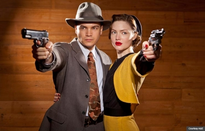 Emile Hirsch and Holliday Grainger in Bonnie and Clyde. (Courtesy A&E)