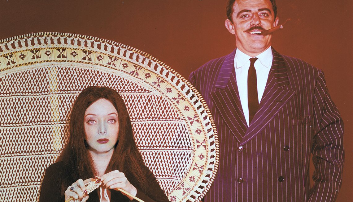 Carolyn Jones, John Astin, Addams Family, Boomer TV Shows 1964 debut