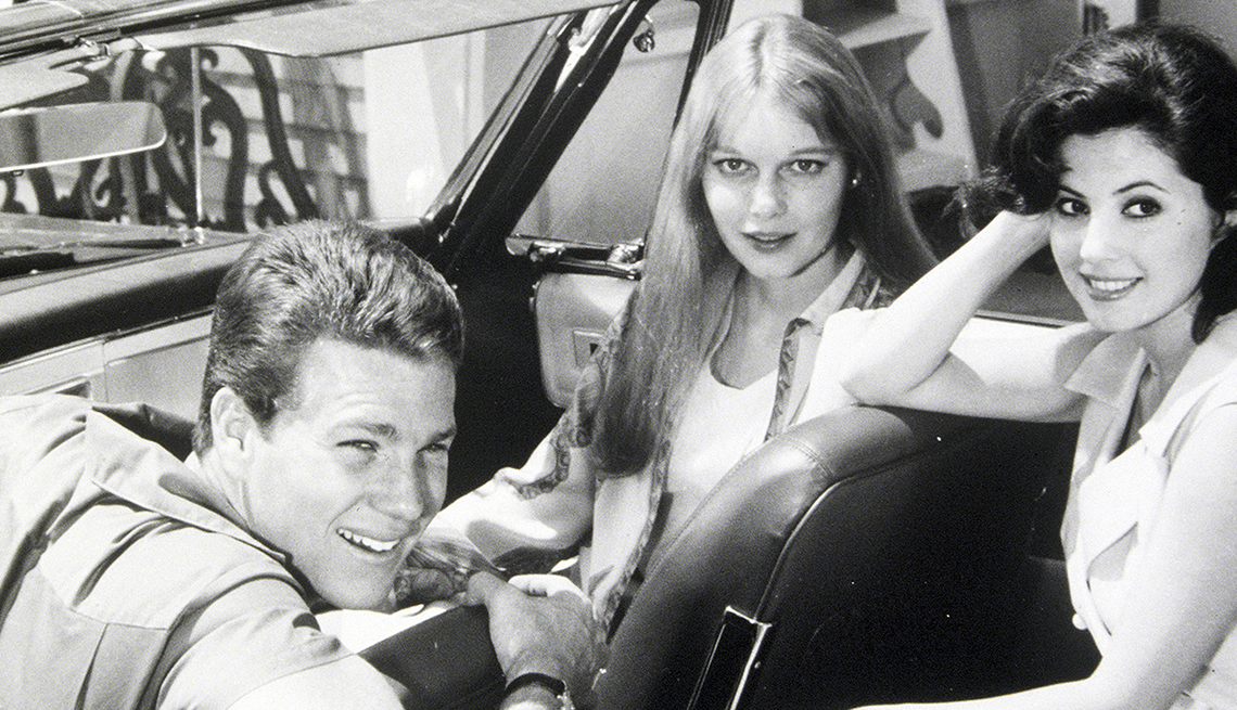 Ryan O'Neal, Mia Farrow, Barbara Perkins, Peyton Place, Boomer TV Shows 1964 debut