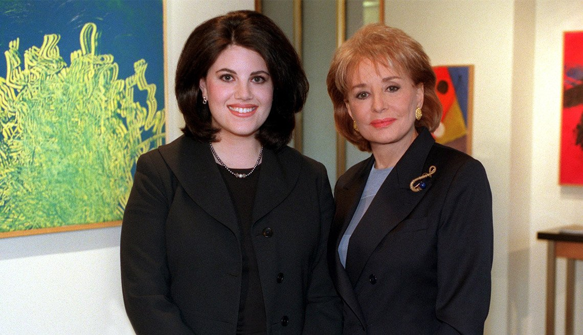 Barbara Walters Poses WIth Monica Lewinsky, Former Intern To President Clinton, Barbara Walters Slideshow