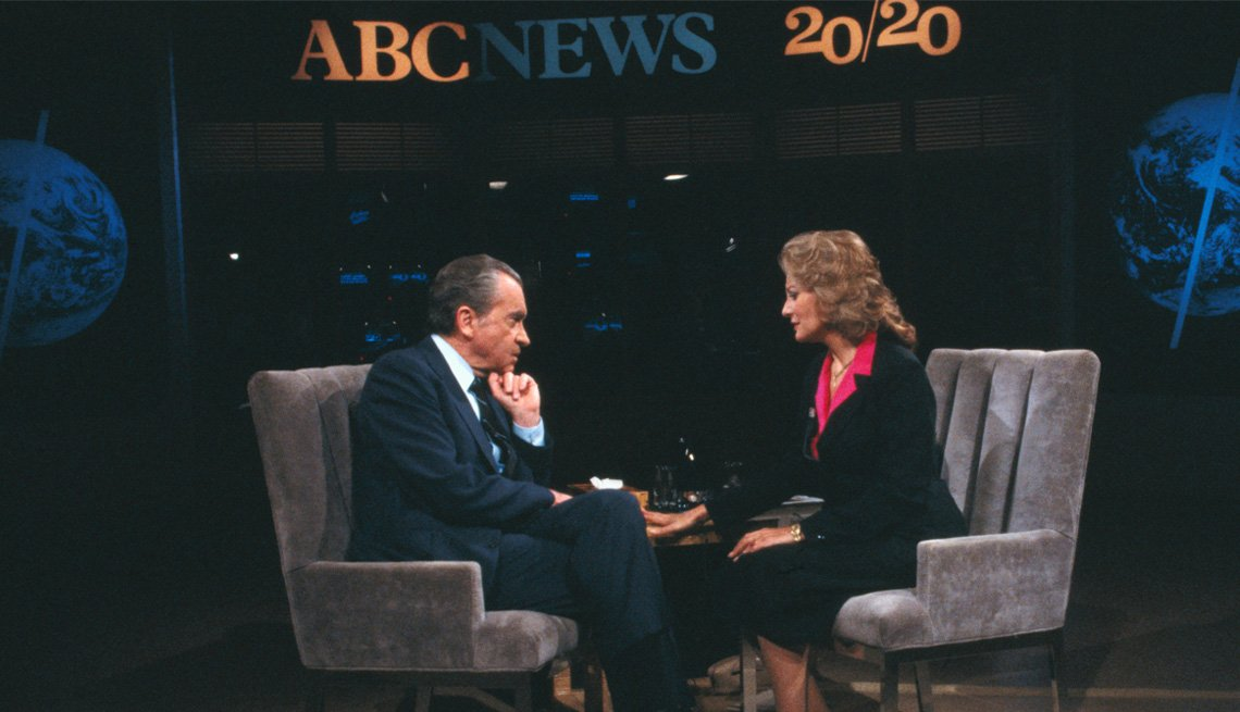 Former President Richard Nixon Sits Down To Be Interviewed, Barbara Walters Slideshow