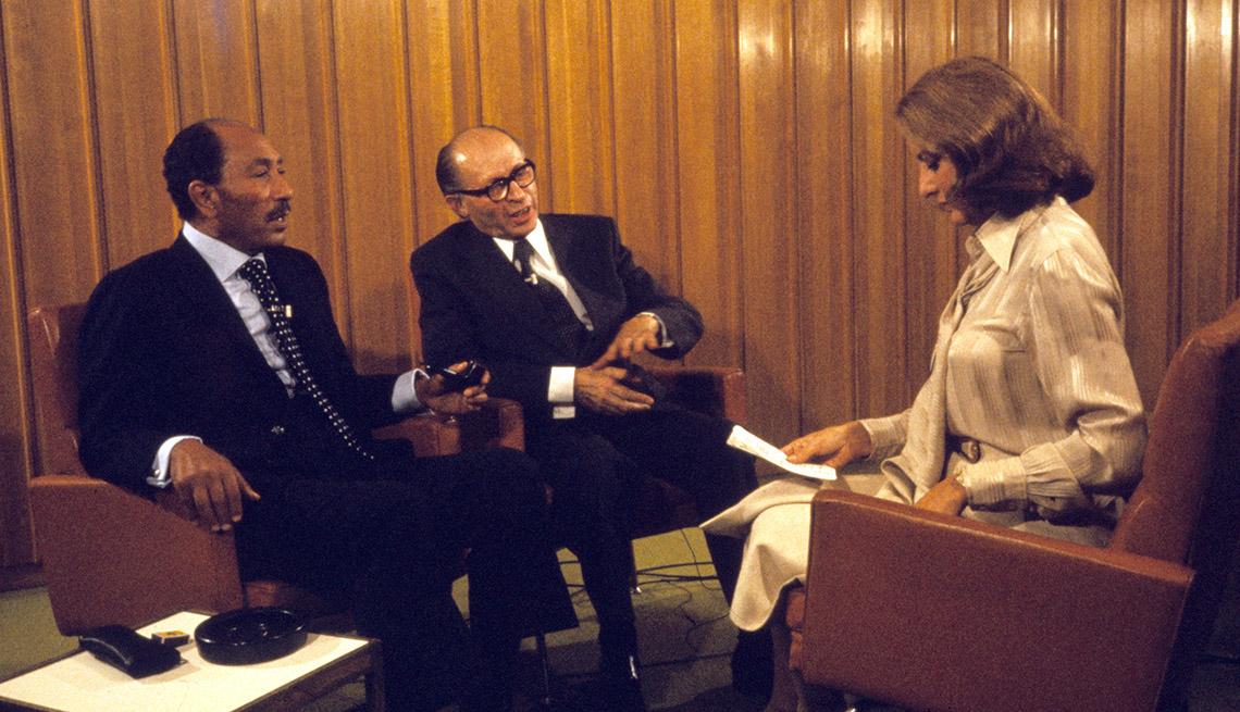 Barbara Walters Sits Down To Interview Then President Of Egypt Anwar Sadat And Israel's Prime Minister Menachem Begin, Barbara Walters Slideshow