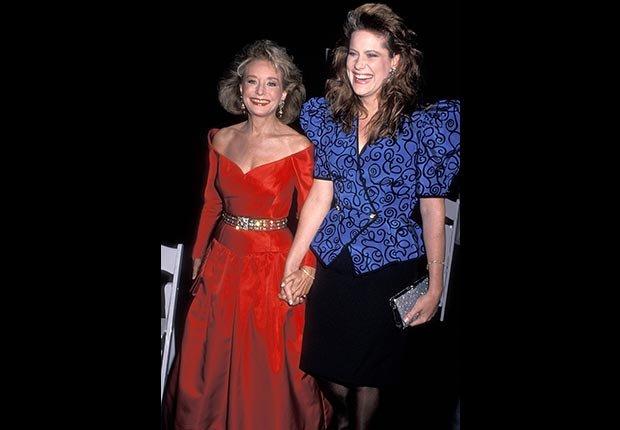 Periodista de televisión Barbara Walters y su hija Jacqueline Guber