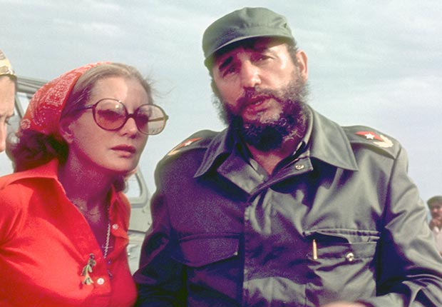 Walters interviewed Fidel Castro for an ABC News Special in June 1977. (ABC via Getty Images)