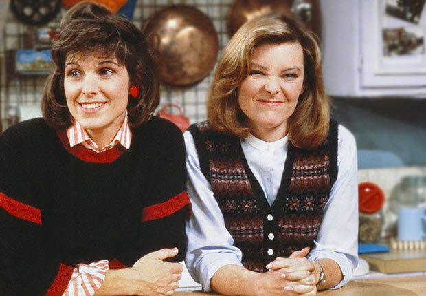 Susan St. James and Jane Curtin on Kate and Allie