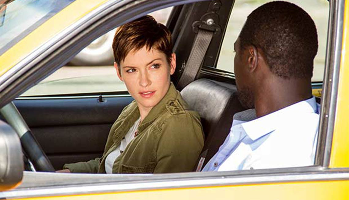 Summer Television Preview Chyler Liegh Jacky Ido in Taxi Brooklyn