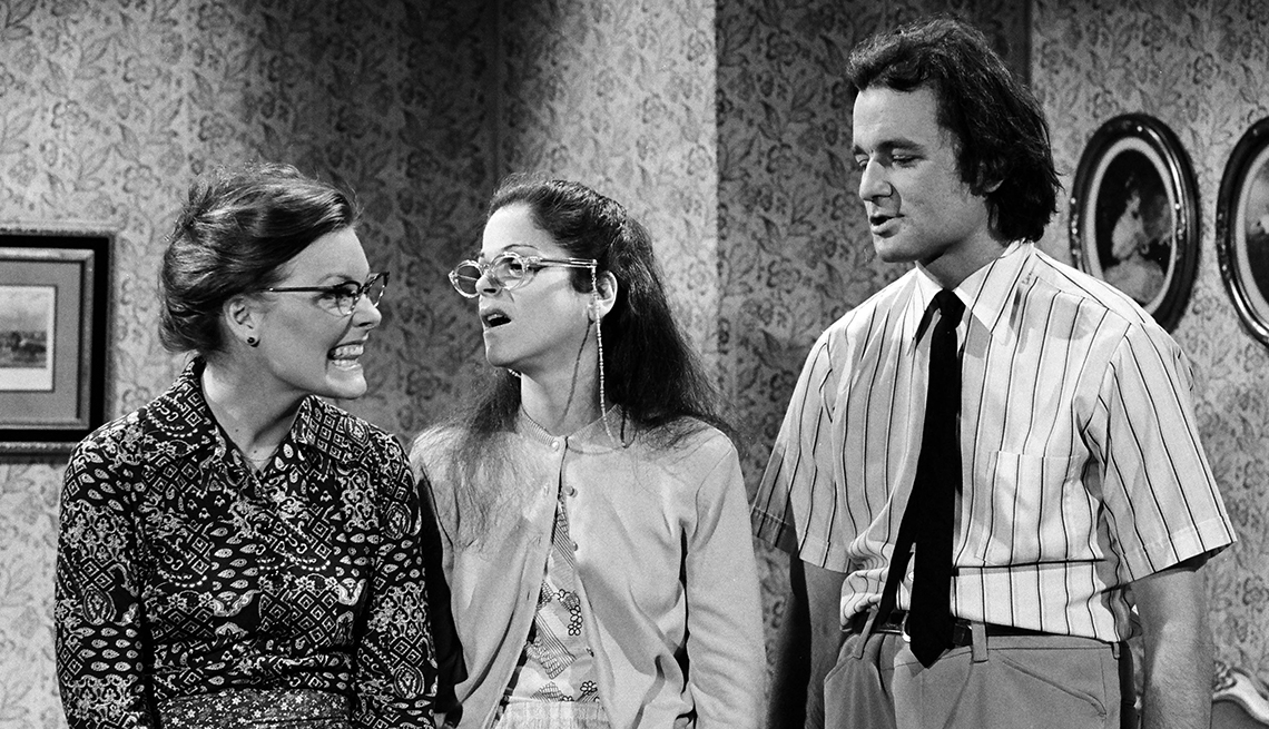 Jane Curtin, Gilda Radner, Bill Murray, Nerds Music Lesson, Saturday Night Live, SNL 40, comedy television