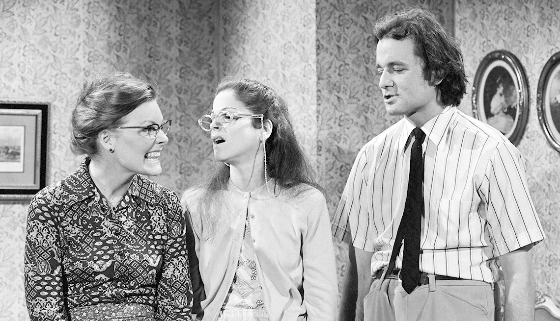 Jane Curtin, Gilda Radner, Bill Murray, Nerds Music Lesson, Saturday Night Live, SNL 40, comedy television