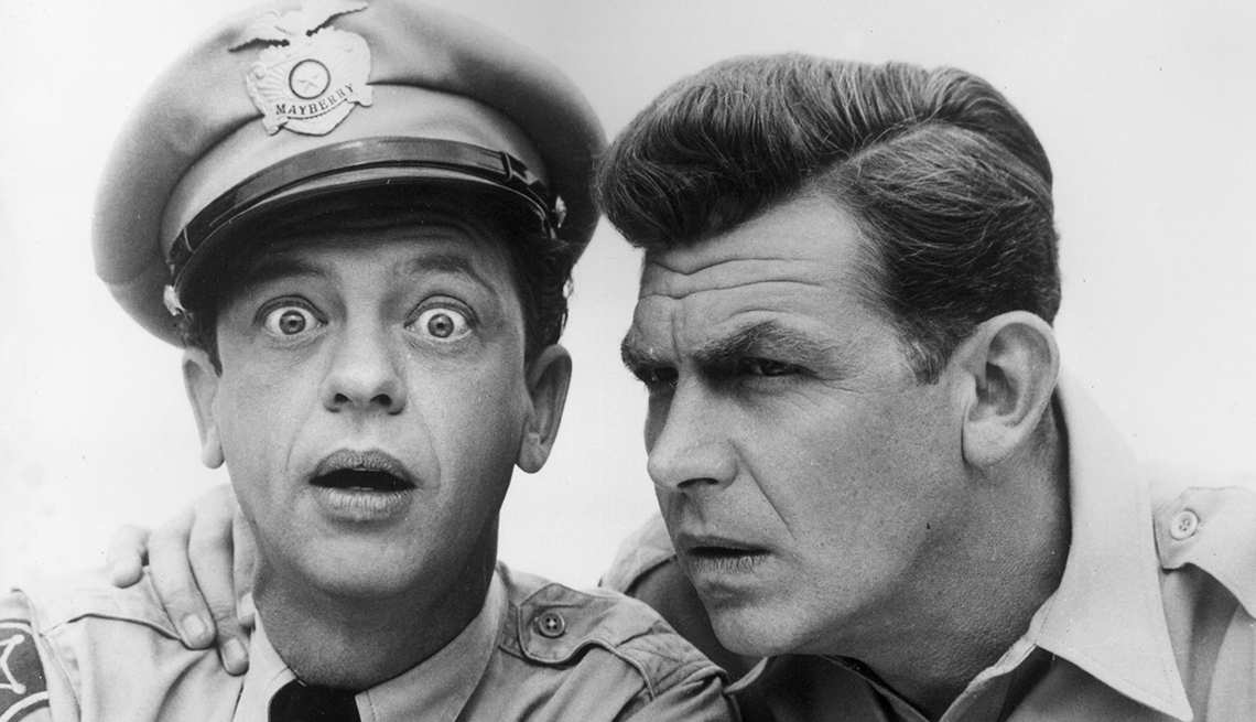 Andy Griffith y Don Knotts