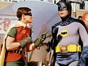 Robin talking to Batman