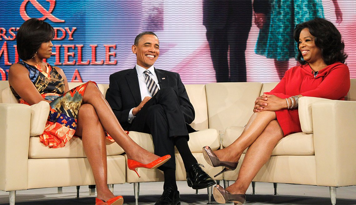 President and Michello Obama on Oprah