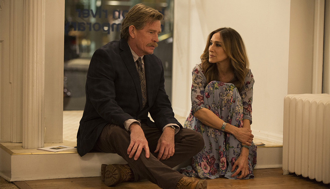 Sarah Jessica Parker and Thomas Haden Church in 'Divorce'