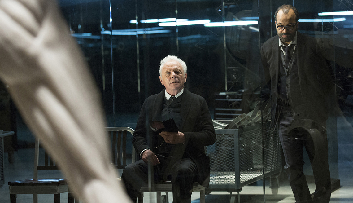 Anthony Hopkins and Jeffrey Wright in 'Westworld'