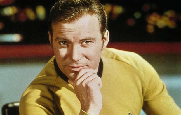 William Shatner en su personaje de Capitán Kirk en Star Trek